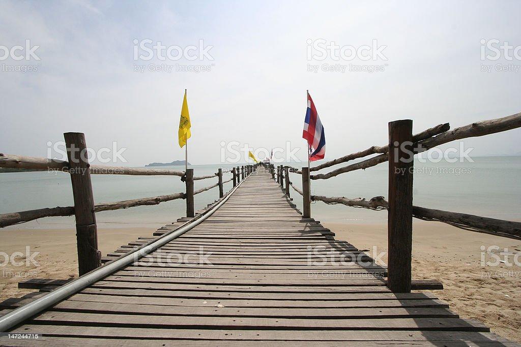 pier to nowhere royalty-free stock photo