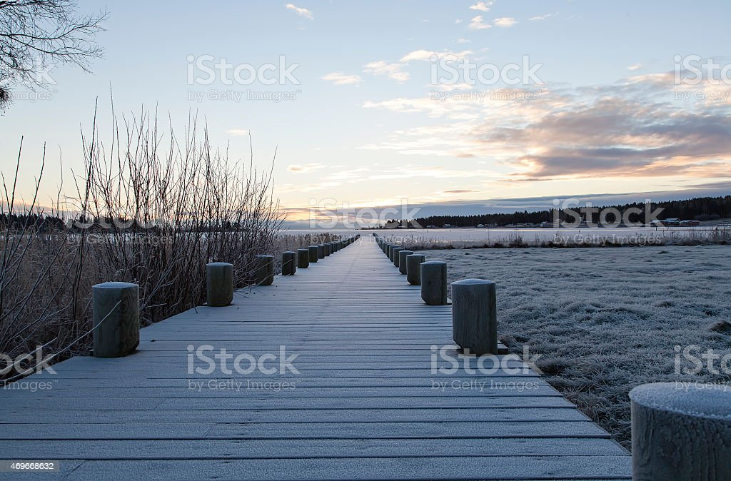 Pier to the ocean royalty-free stock photo