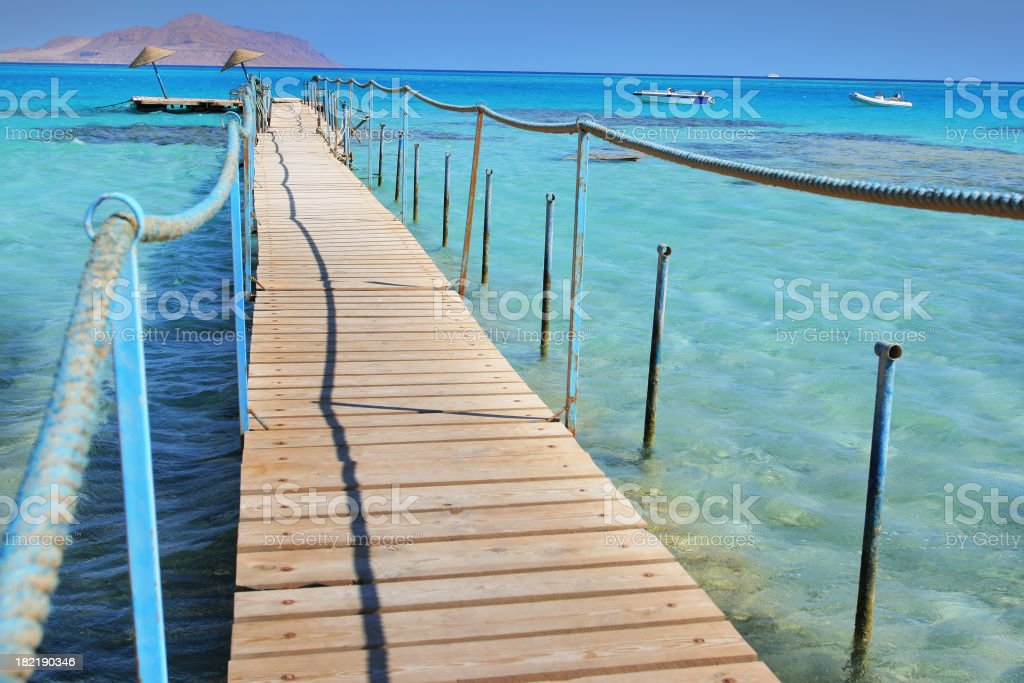 Pier to turquoise stock photo