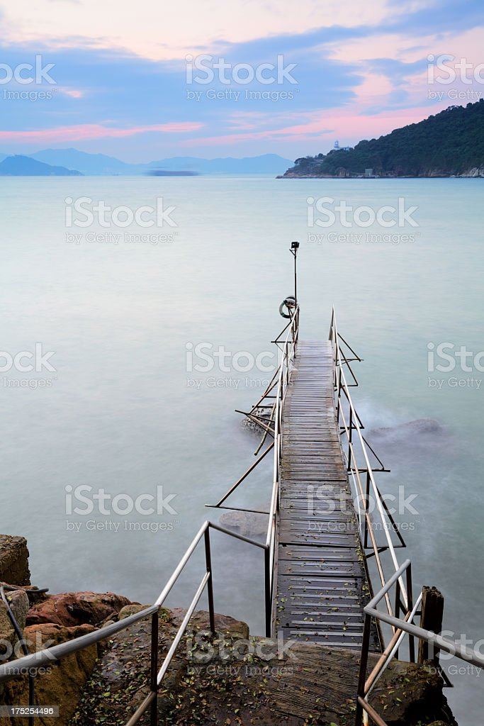 pier under sunlight royalty-free stock photo