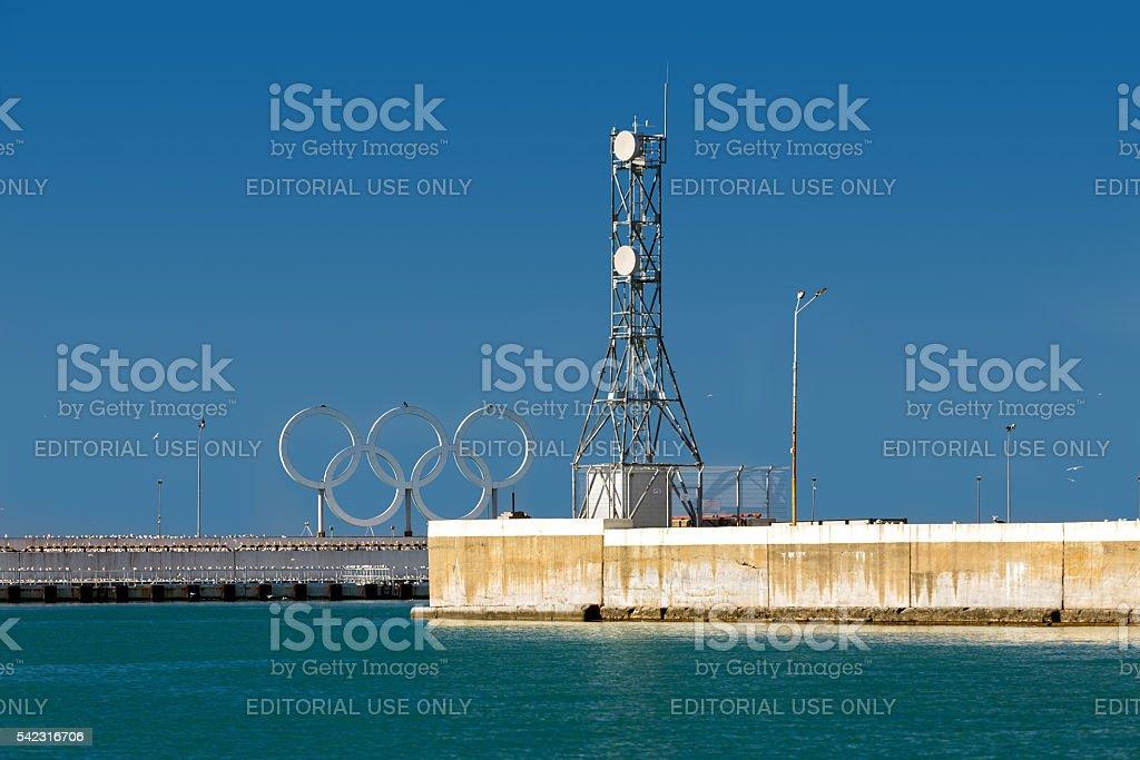 Pierce on the Black Sea. Sochi. Russia stock photo