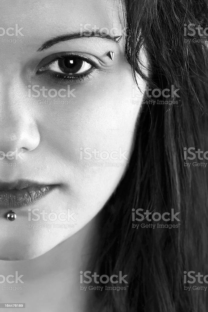 Pierced beauty stock photo