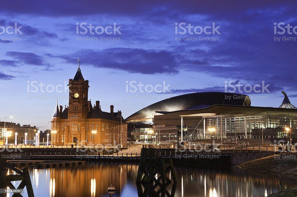 Pierhead building, Cardiff Bay stock photo