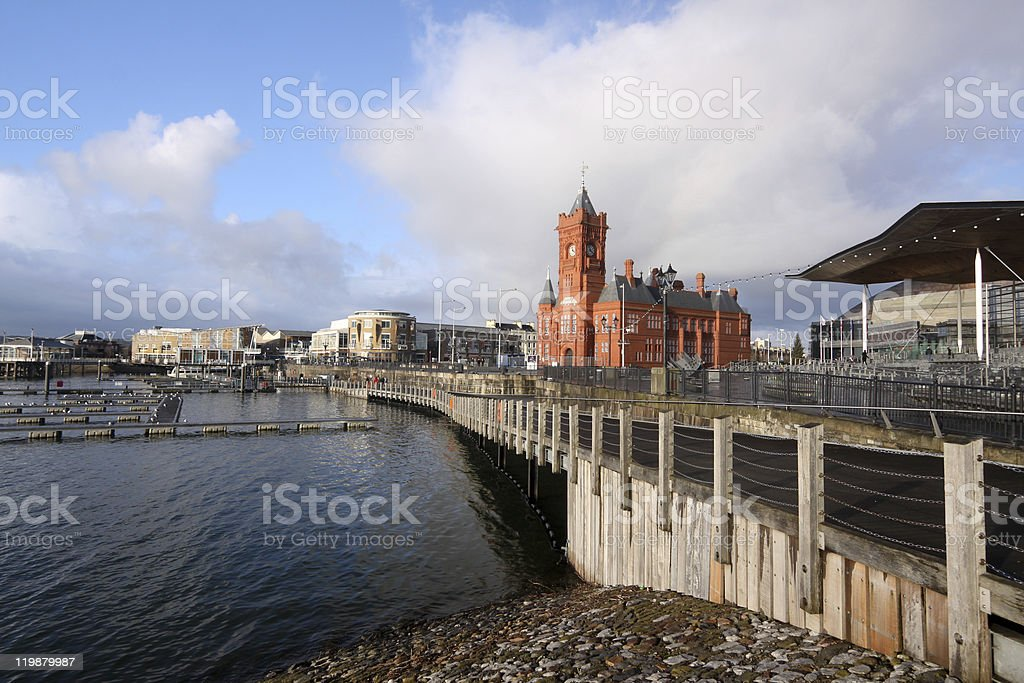 Pierhead Building in Cardiff, Wales stock photo