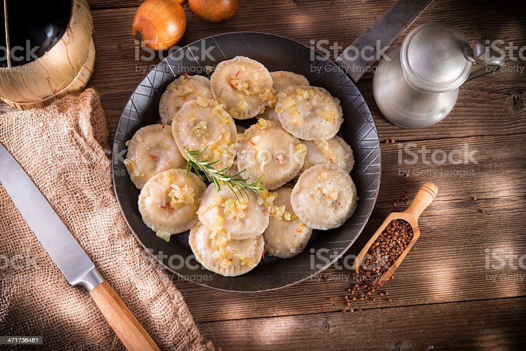 pierogi with meat stock photo