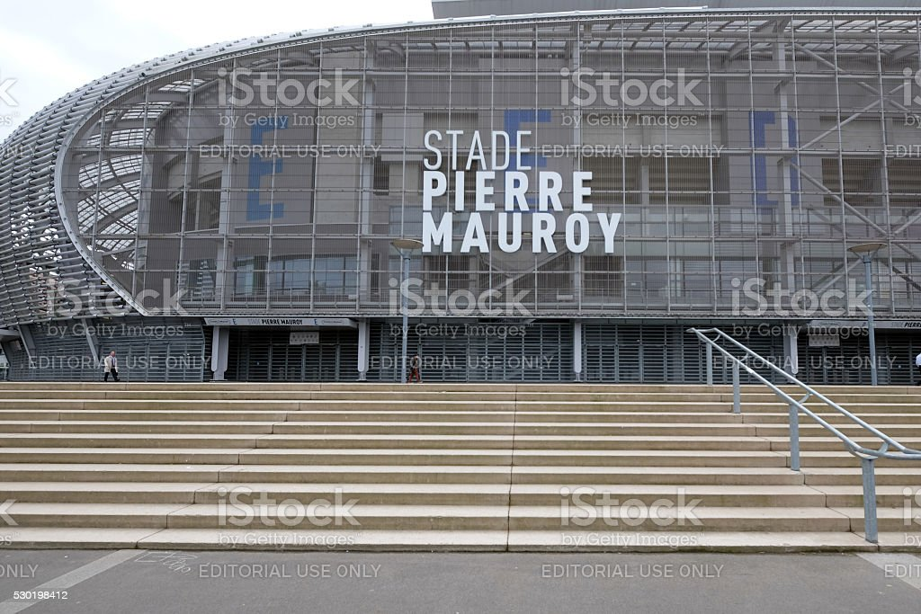 Pierre Mauroy football stadium stock photo