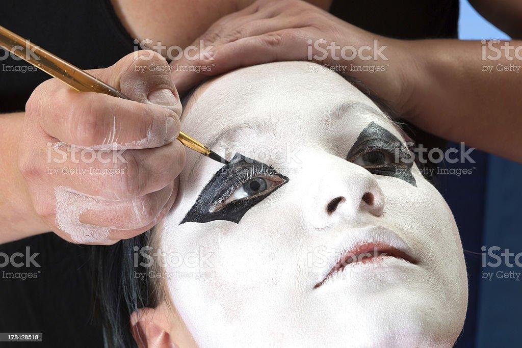 Pierrot eyes royalty-free stock photo