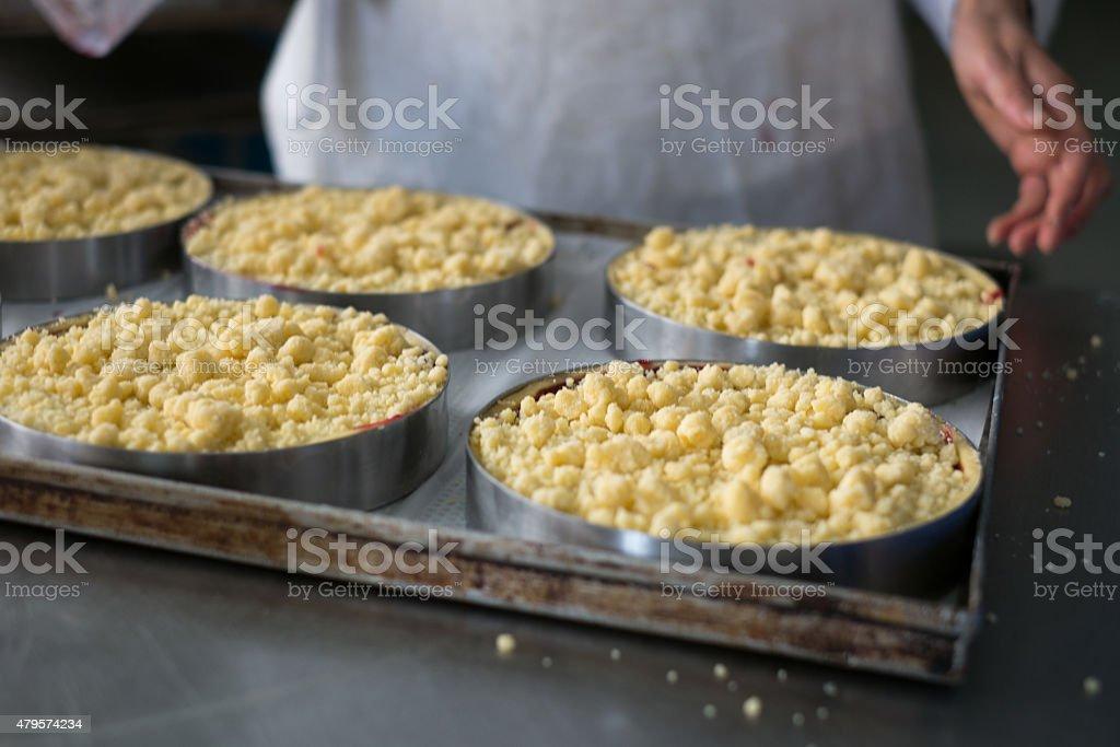 Pies and Pastry Chef stock photo