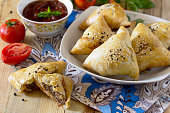 Pies fried samosa, the national dish of Caucasian cuisine.