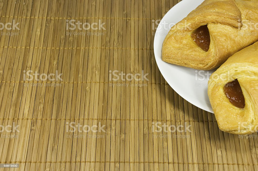 Pies On A White Plate stock photo