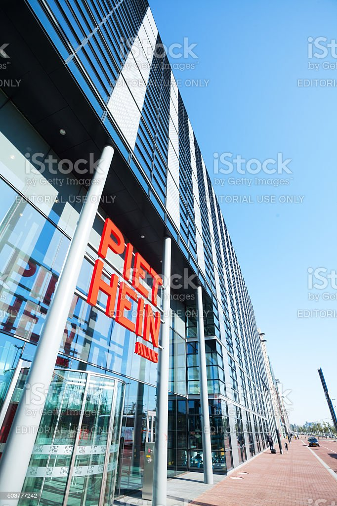 Piet Heinkade and office buildings stock photo