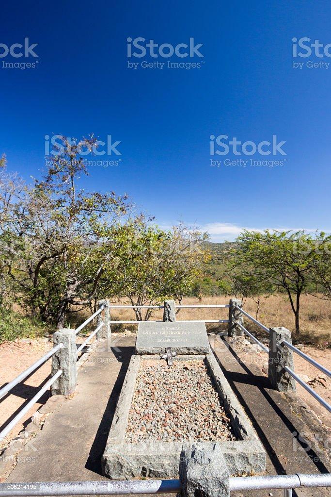 Piet Retief Grave in Mgungundlovu, South Africa stock photo