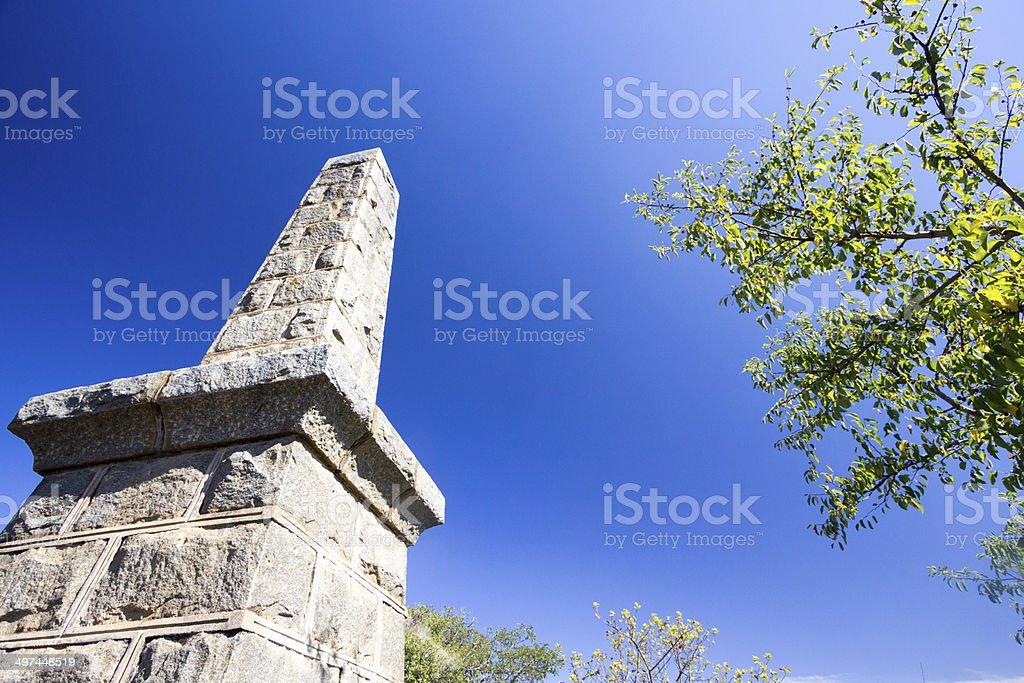 Piet Retief Memorial in KwaZulu-Natal, South Africa stock photo