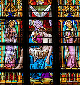 Pieta - Stained Glass Window in Den Bosch Cathedral