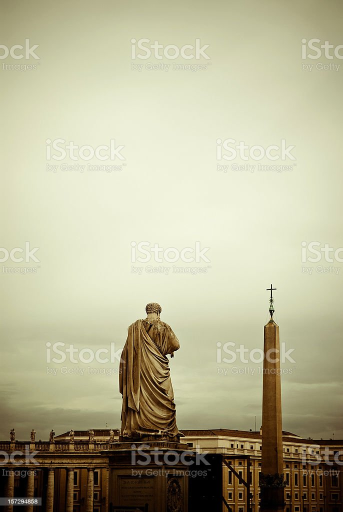pietro in vatican square stock photo