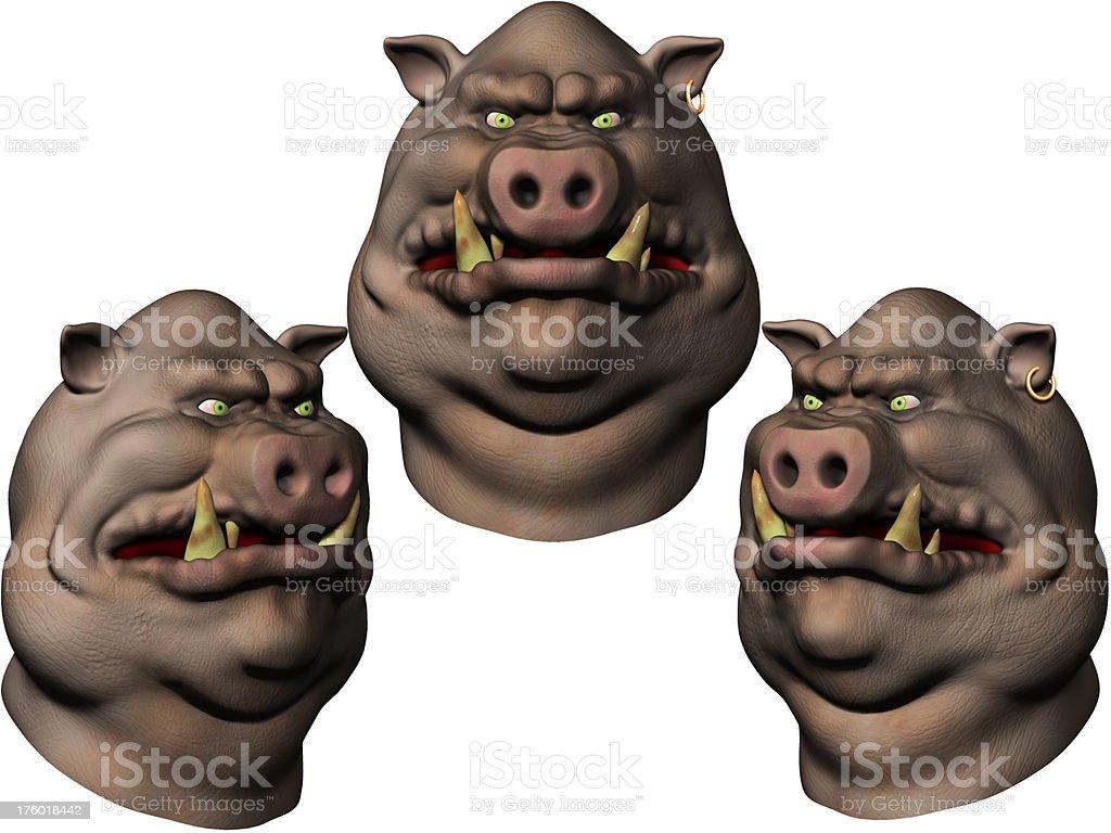 Pig Character royalty-free stock photo