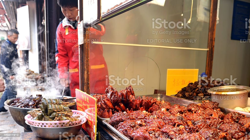 Pig feet and other food stock photo