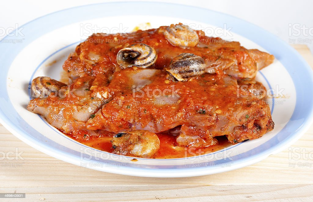 pig feet typical of Spain stock photo