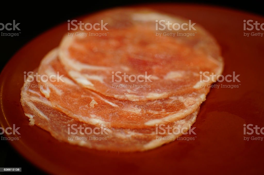 pig for barbecue and  shabu stock photo