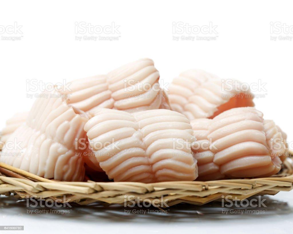 pig palate on white background stock photo