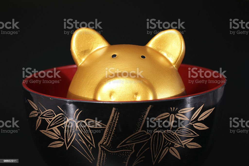 Pig soup royalty-free stock photo