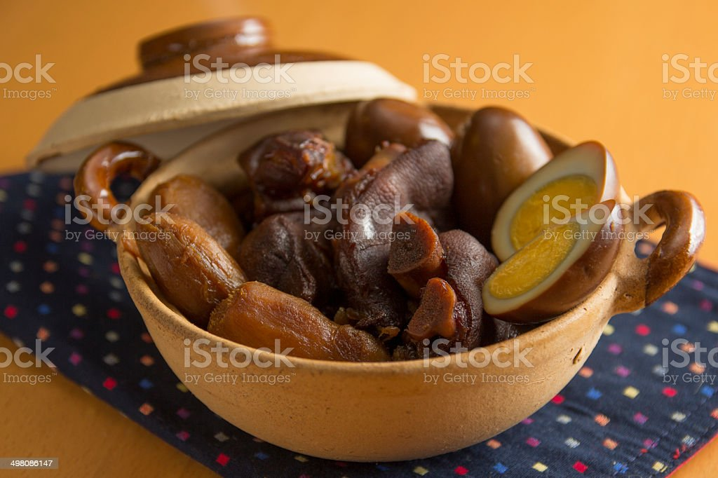 Pig Trotters In Ginger And Sweetened Vinegar stock photo