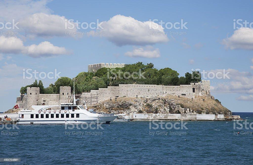 Pigeon Island in Kusadasi, Turkey stock photo