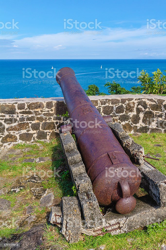 Pigeon Island National Park, St. Lucia stock photo