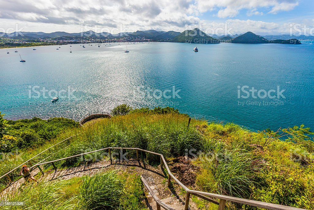 'Pigeon Island National Park, St. Lucia' stock photo