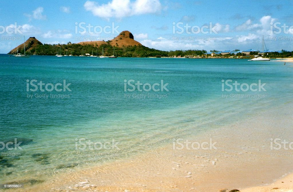 Pigeon Island, Saint Lucia - Windward Islands stock photo