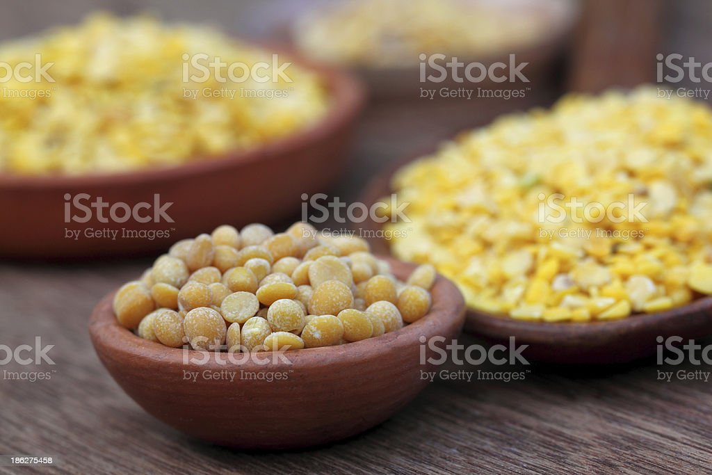 Pigeon pea with other pulses stock photo