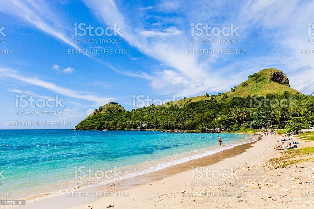 Pigeon Point Beach, St. Lucia stock photo
