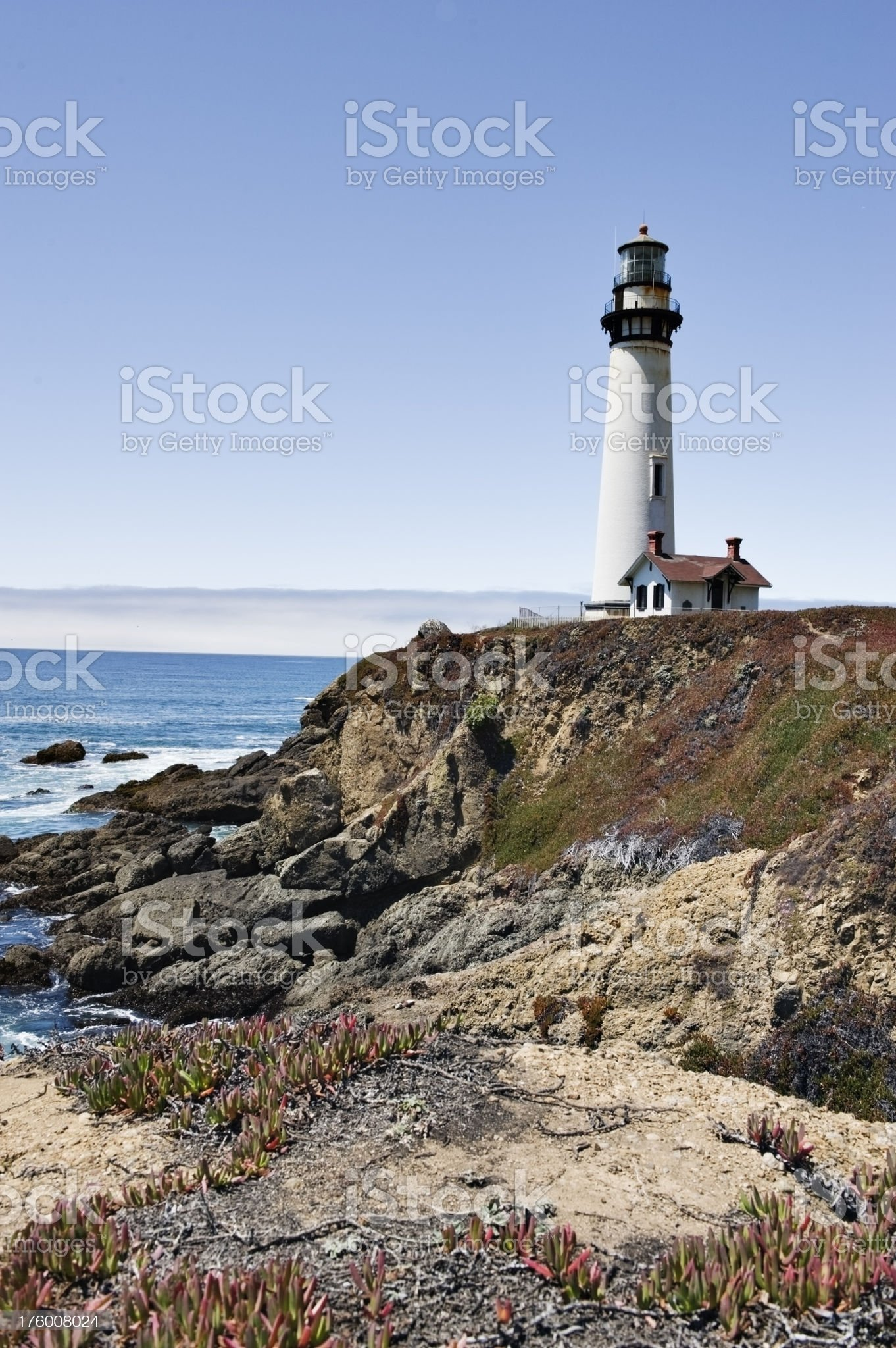 Pigeon Point Lighthouse California royalty-free stock photo