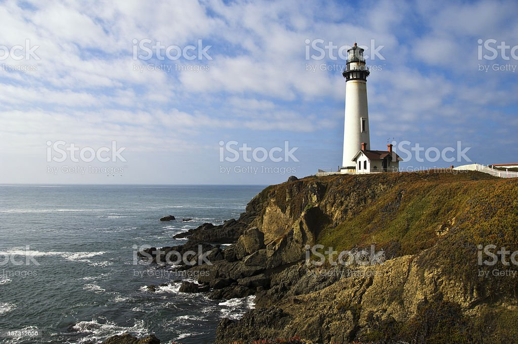 Pigeon Point Lighthouse Horizontal stock photo