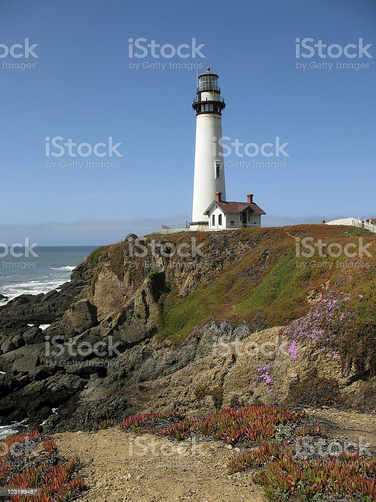 Pigeon Point Lighthouse in Pescadero, California royalty-free stock photo