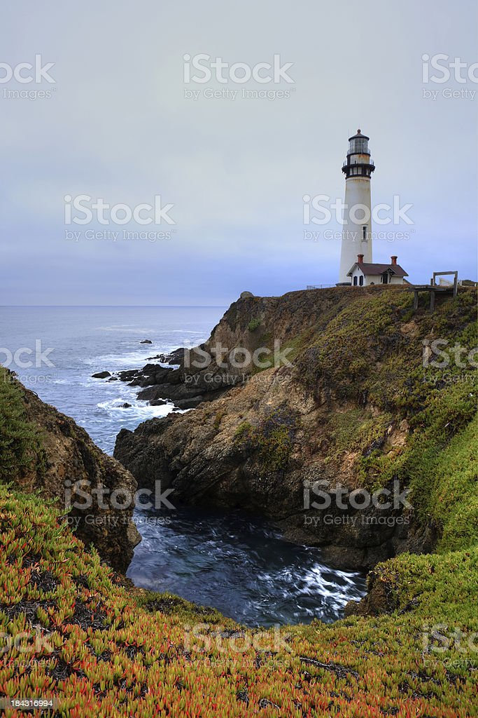 Pigeon Point Lighthouse. stock photo