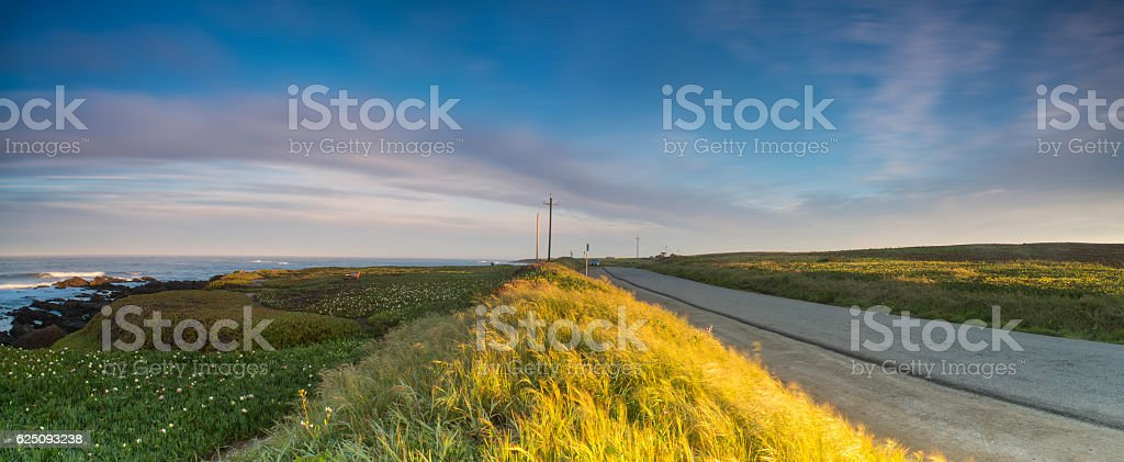Pigeon Point Sunrise stock photo