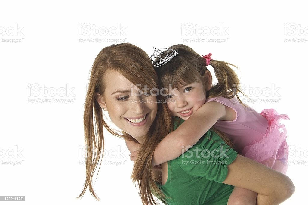 Piggy Back Riding Princess stock photo