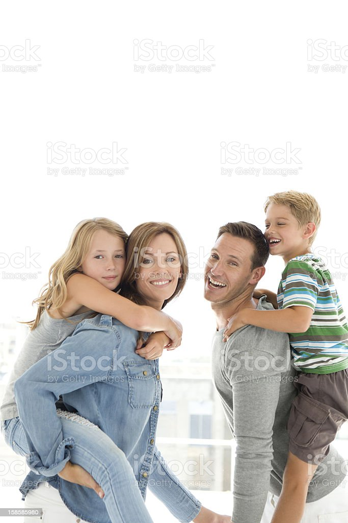 Piggy Back session royalty-free stock photo