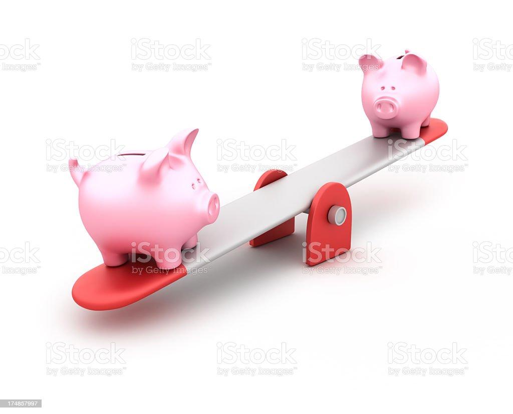 Piggy Bank Balance royalty-free stock photo