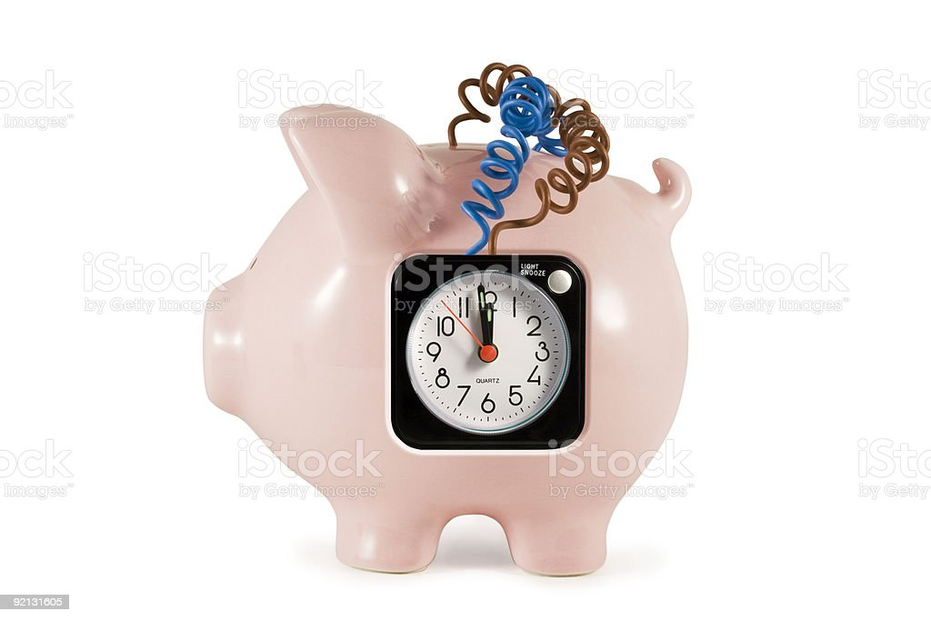 Piggy bank bomb royalty-free stock photo