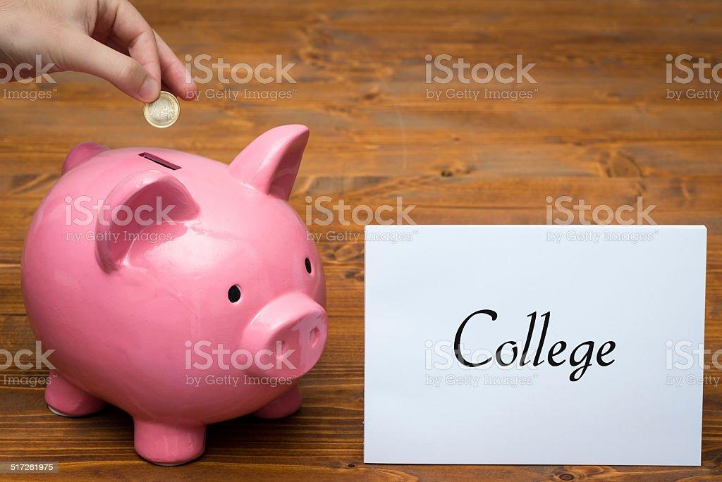 Piggy bank concept stock photo