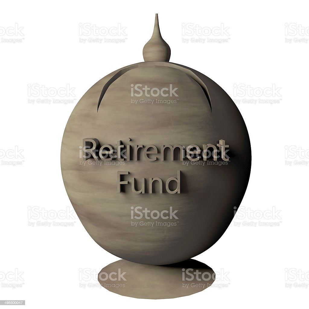 Piggy bank for retirement fund stock photo