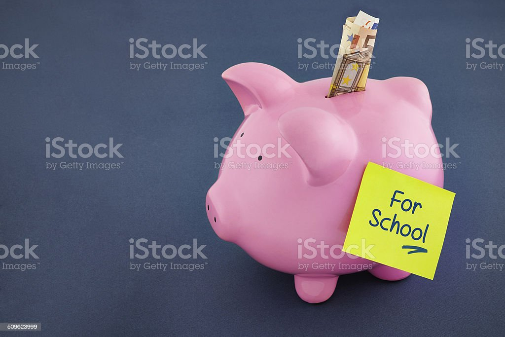 Piggy Bank for School royalty-free stock photo