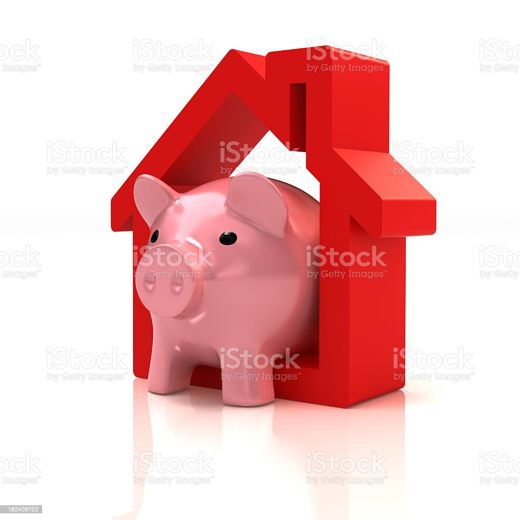piggy bank home royalty-free stock photo