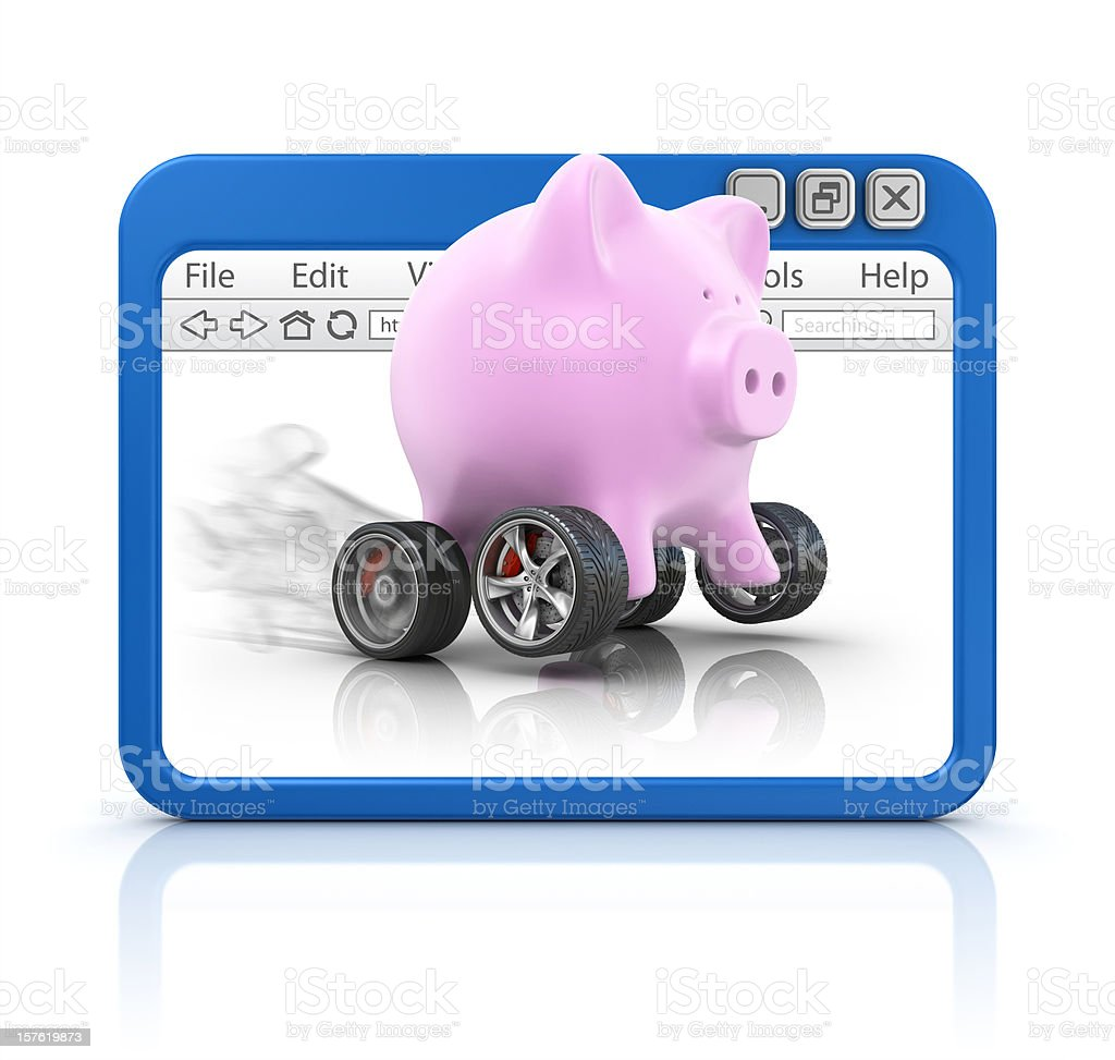 piggy bank in browser royalty-free stock vector art