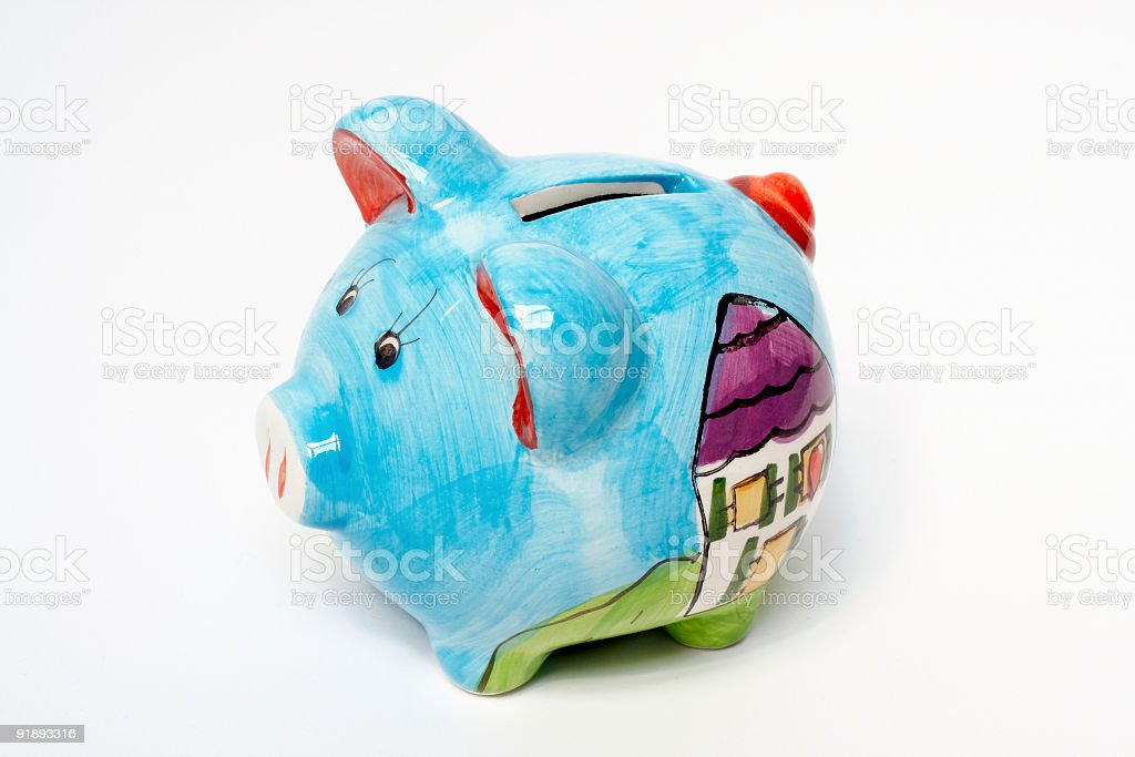 Piggy bank isolated royalty-free stock photo