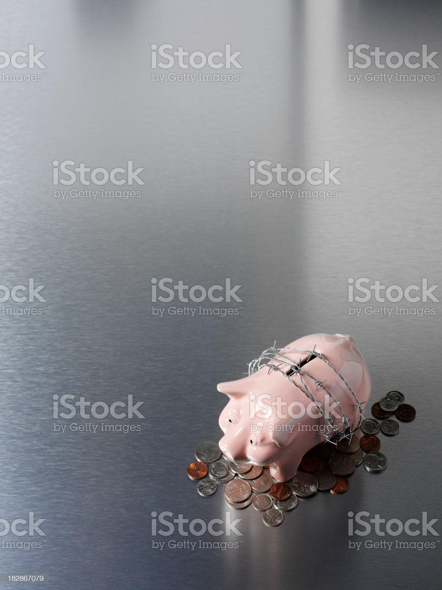 Piggy Bank Money Saving Plan royalty-free stock photo