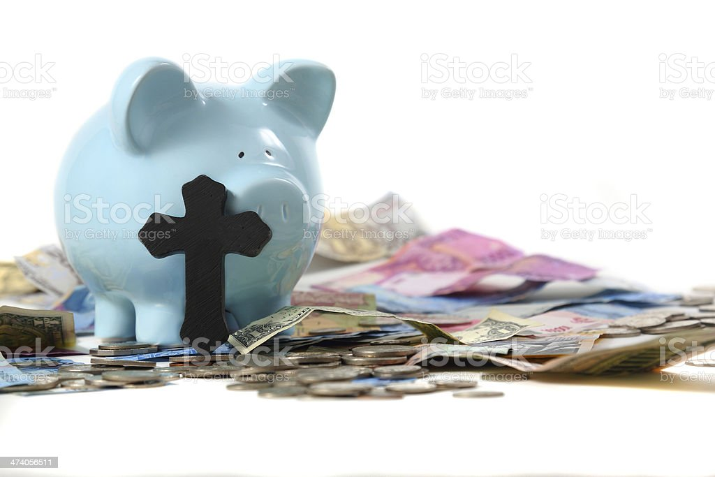 Piggy Bank of death stock photo