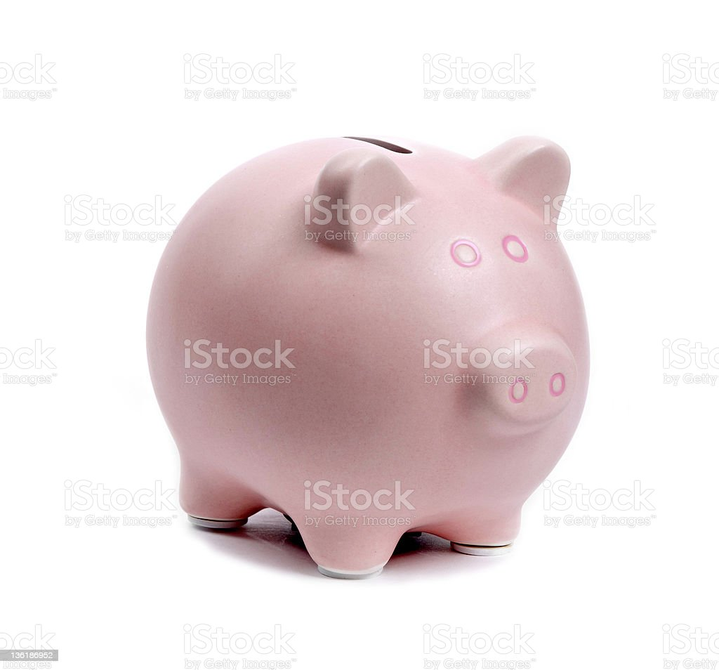 piggy bank on a white background royalty-free stock photo